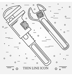 Wrench Icons Wrench Icons Wrench Icons Drawing Wr vector image vector image