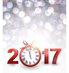2017 new year background with clock vector