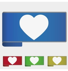 Web bookmark - heart vector