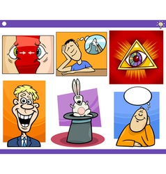Cartoon concepts and ideas set vector