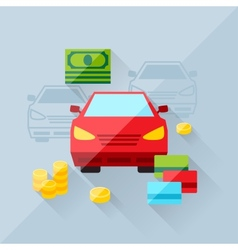 Concept of auto loan in flat design style vector