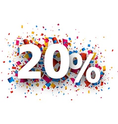 20 sale sign vector image vector image