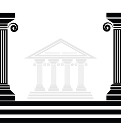 Greek columns vector