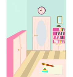 teacher room vector image