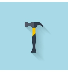 Flat web icon hammer vector