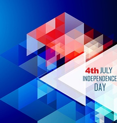 Stylish 4th of july design vector