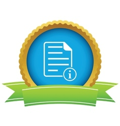 Information document icon vector
