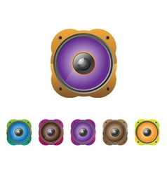 multicolored speakers vector illustration a set vector image