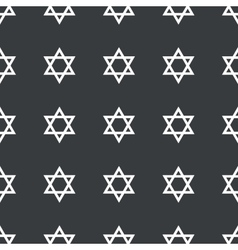 Straight black star david pattern vector