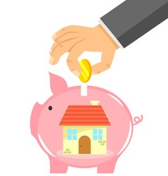 Saving for a house vector