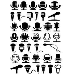 Microphones vector image