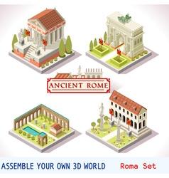 Roman 03 Tiles Isometric vector image