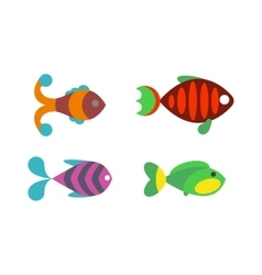 Aquatic fish wildlife aquarium underwater nature vector