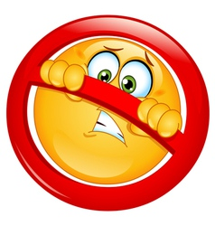 Not allowed emoticon vector
