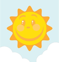 Of Smiling Sun vector image