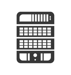 Web hosting icon data base design graphic vector