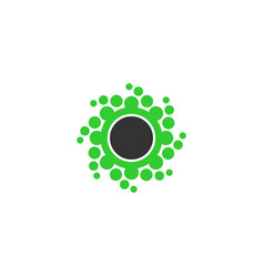 abstrac dot circle icon vector image vector image