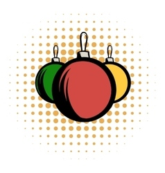Balls comics icon vector