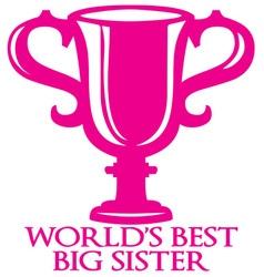 Big sister trophy vector