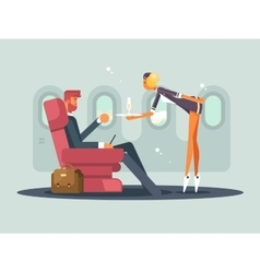Business class on plane vector image vector image