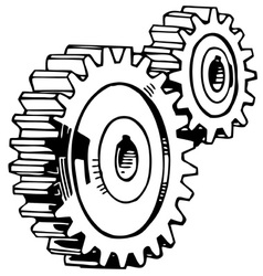 cog stack vector image