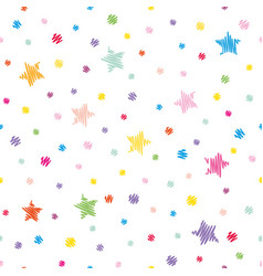 Festive seamless pattern background colorful vector