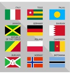 Flags of world flat Set number 06 vector image vector image