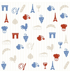 French seamless pattern vector image vector image