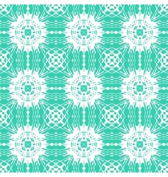 Geometric art deco pattern with floral shapes vector image