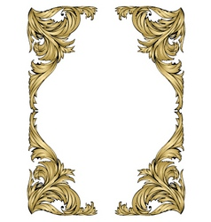 gold frame vector image vector image