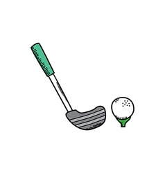 golf cartoon icon theme vector image