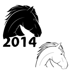 horse symbol of the new year vector image vector image