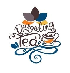Lettering - dargeeling tea vector