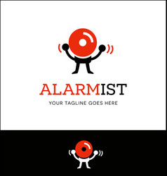 logo or icon design of a fire alarm vector image vector image