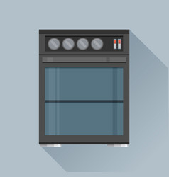 Modern flat design concept icon kitchen stove vector