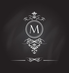 monogram design elements vector image vector image