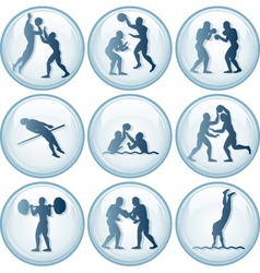 Olympic Sport Icons Set vector image vector image