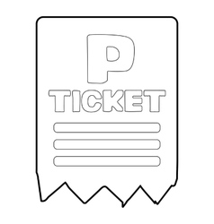 Parking ticket icon isometric 3d style vector image vector image