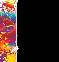 rainbow grunge background vector image vector image