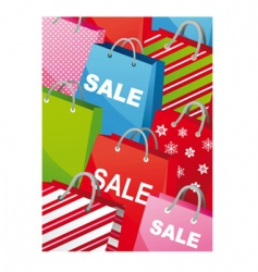 retail sale bags vector image vector image