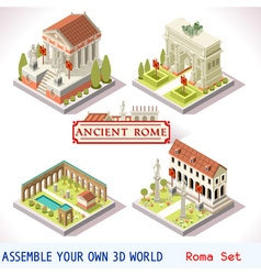 Roman 03 tiles isometric vector