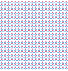 Seamless love pattern Pink hearts like flowers on vector image