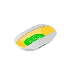 Semiclosed footbal stadium isometric icon vector