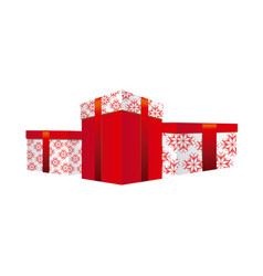set collection box gifts christmas vector image