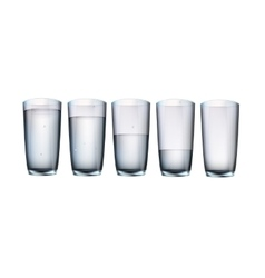 set of cups of water with filling vector image vector image