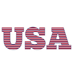 striped usa vector image vector image
