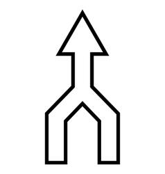 Unite arrow up stroke icon vector
