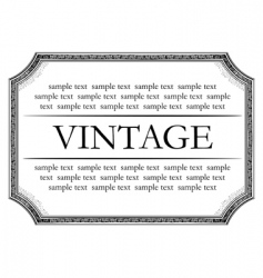 vintage framework marble black vector image vector image