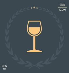 wineglass symbol vector image vector image