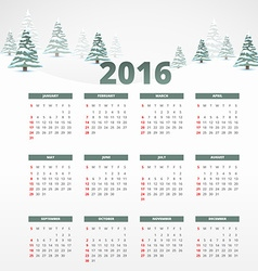 2016 calender template vector